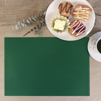 H. Risch Inc. 12 inch x 16 inch Green Vinyl Rectangle Placemat