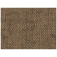 H. Risch Inc. Rattan 12 inch x 16 inch Bison Premium Sewn Rectangle Placemat