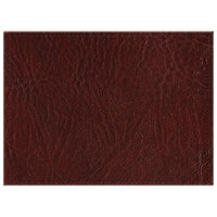 H. Risch, Inc. 11 inch x 15 inch Wine Hardboard / Faux Leather Rectangle Placemat