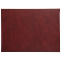 H. Risch, Inc. TABLEMAT15X11WINE 15 inch x 11 inch Customizable Wine Hardboard / Faux Leather Rectangle Placemat