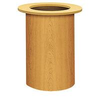 HON TLRAC 18 inch x 28 inch Harvest Laminate Cylinder Table Base