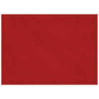 H. Risch, Inc. 11 inch x 15 inch Red Hardboard / Faux Leather Rectangle Placemat
