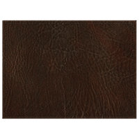H. Risch, Inc. 11 inch x 15 inch Brown Hardboard / Faux Leather Rectangle Placemat