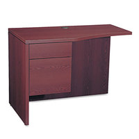 HON 105818LNN 10500 Series 42 inch x 24 inch x 29 1/2 inch Mahogany Curved Left Return