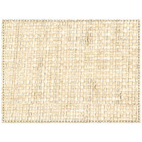 H. Risch Inc. Rattan 12 inch x 16 inch Antique Ivory Premium Sewn Rectangle Placemat