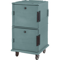 Cambro UPC1600HD401 Slate Blue Ultra Camcart Insulated Food Pan Carrier with Heavy Duty Casters