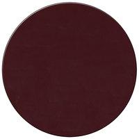 H. Risch Inc. 15 inch Wine Vinyl Round Placemat