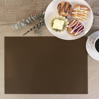 H. Risch Inc. 12 inch x 16 inch Brown Vinyl Rectangle Placemat