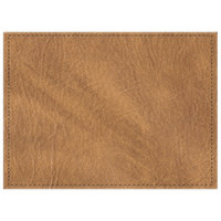 H. Risch, Inc. 11 inch x 15 inch Nugget Hardboard / Faux Leather Rectangle Placemat