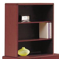 HON 107292NN 10700 Series Mahogany 2 Shelf Wood Bookcase Hutch - 32 5/8 inch x 14 5/8 inch x 37 1/8 inch