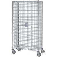 Metro SEC66EC Mobile Standard Duty Wire Security Cabinet - 65 inch x 33 1/2 inch x 68 1/2 inch