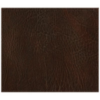 H. Risch, Inc. 13 inch x 15 inch Brown Hardboard / Faux Leather Rectangle Placemat