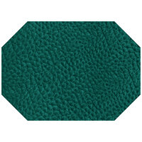 H. Risch Inc. 11 3/8 inch x 16 inch Aqua Vinyl Octagon Placemat