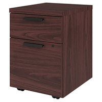 HON 105106NN Mobile 15 3/4 inch x 18 7/8 inch x 21 7/8 inch Mahogany One File and One Box Drawer Pedestal File - Letter, Legal