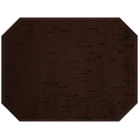 H. Risch Inc. Vino 12 inch x 16 inch Cocoa Premium Sewn Octagon Placemat