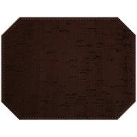 H. Risch, Inc. PLACEMATDXOCT-VINOCOCOA Vino 16 inch x 12 inch Customizable Cocoa Premium Sewn Faux Cork Octagon Placemat