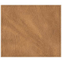 H. Risch, Inc. 13 inch x 15 inch Nugget Hardboard / Faux Leather Rectangle Placemat