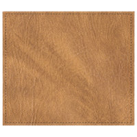 H. Risch, Inc. 13 inch x 15 inch Customizable Nugget Hardboard / Faux Leather Rectangle Placemat