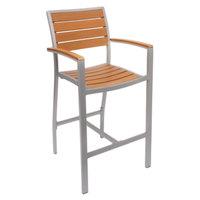 BFM Seating PH-SEAT-SLAT Largo Synthetic Teak Seat Slat