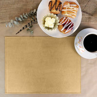 H. Risch, Inc. PLACEMATDX-TAMBEIGE Tamarac 16 inch x 12 inch Customizable Beige Premium Sewn Faux Leather Rectangle Placemat