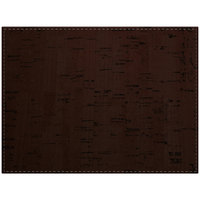 H. Risch Inc. Vino 12 inch x 16 inch Cocoa Premium Sewn Rectangle Placemat