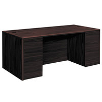 HON 10799NN 10700 Series 72 inch x 36 inch x 29 1/2 inch Mahogany Double Pedestal Desk with Full Pedestals