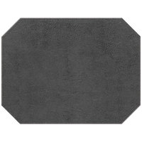 H. Risch, Inc. PLACEMATDXOCT-TAMGRAY Tamarac 16 inch x 12 inch Customizable Gray Premium Sewn Faux Leather Octagon Placemat