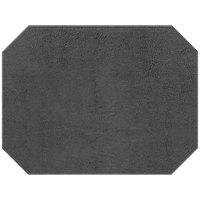 H. Risch, Inc. Tamarac 12 inch x 16 inch Customizable Gray Premium Sewn Octagon Placemat