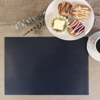 H. Risch Inc. 12 inch x 16 inch Blue Vinyl Rectangle Placemat