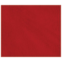 H. Risch, Inc. 13 inch x 15 inch Red Hardboard / Faux Leather Rectangle Placemat