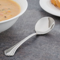 Walco 9512 Sentry 6 inch 18/10 Stainless Steel Extra Heavy Weight Bouillon Spoon - 24/Case