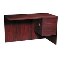 HON 10515RNN 10500 Series 48 inch x 24 inch x 29 1/2 inch Mahogany L Right 3/4 Height Pedestal Return
