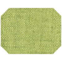 H. Risch Inc. Rattan 12 inch x 16 inch Olive Grove Premium Sewn Octagon Placemat