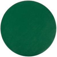 H. Risch Inc. 13 inch Green Vinyl Round Placemat