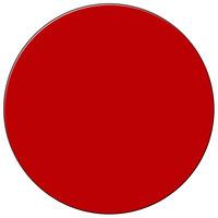 H. Risch Inc. 13 inch Red Vinyl Round Placemat