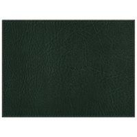 H. Risch, Inc. 11 inch x 15 inch Green Hardboard / Faux Leather Rectangle Placemat