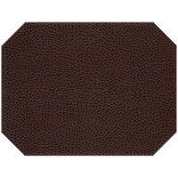 H. Risch Inc. Sedona Saddle 12 inch x 16 inch Coffee Premium Sewn Octagon Placemat