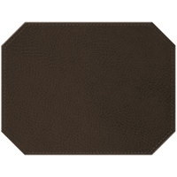 H. Risch Inc. Sedona Distressed 12 inch x 16 inch Sepia Premium Sewn Octagon Placemat