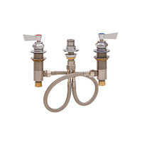 Fisher 2658 Deck Mounted 1/2 inch Brass Faucet Base with Widespread Base, Check Stems, Swivel Outlet, and Lever Handles