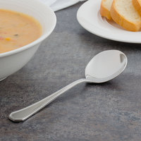 Walco 9712 Prim 6 inch 18/10 Stainless Steel Extra Heavy Weight Bouillon Spoon - 24/Case