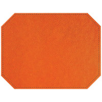 H. Risch Inc. Rio 12 inch x 16 inch Orange Premium Sewn Octagon Placemat