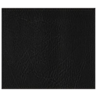 H. Risch, Inc. 13 inch x 15 inch Black Hardboard / Faux Leather Rectangle Placemat