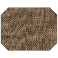 H. Risch Inc. PLACEMATDXOCT-RATTANBISON 16 inch x 12 inch Bison Premium Sewn Rattan Octagon Placemat