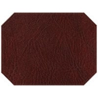H. Risch, Inc. 13 inch x 17 inch Customizable Wine Hardboard / Faux Leather Octagon Placemat