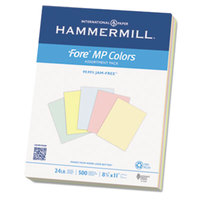 Hammermill 102640 8 1/2 inch x 11 inch Assorted Color Ream of 24# Recycled Colored Copy Paper - 500/Sheets