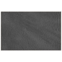 H. Risch, Inc. 11 inch x 17 inch Charcoal Hardboard / Faux Leather Rectangle Placemat
