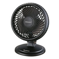 Holmes HAOF87BLZNUC Lil' Blizzard 7 inch Black Plastic 2-Speed Oscillating Personal Table Fan