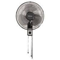 Holmes HMF1611AUM 16 inch Black 3-Speed Metal Wall Mount Fan