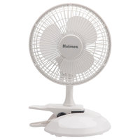 Holmes HCF0611AWM 6 inch White 2-Speed Convertible Clip/Desk Fan