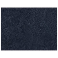 H. Risch, Inc. 13 inch x 17 inch Customizable Navy Hardboard / Faux Leather Rectangle Placemat